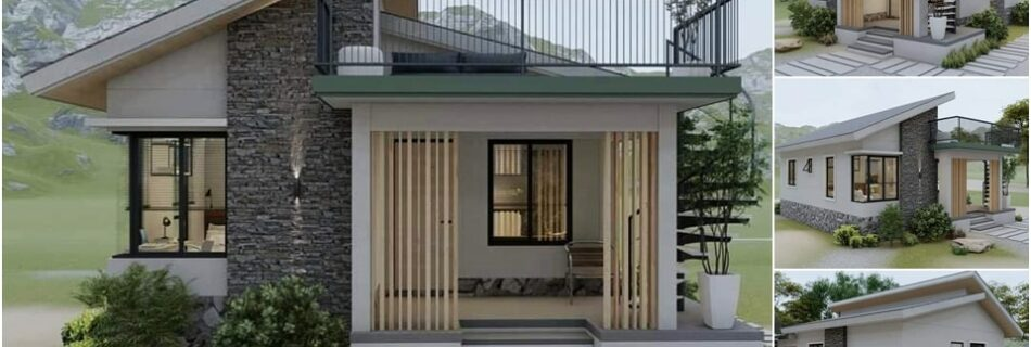 One-storey house concept with deck