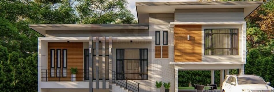 modern house design half floor