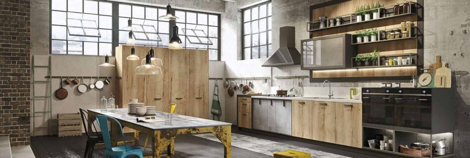 Tips for decorating the kitchen in the Loft style