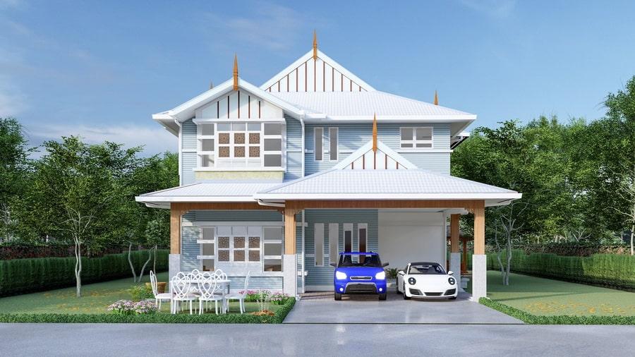 แบบบ้านทรงไทยประยุกต์
