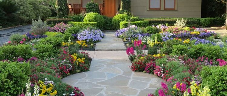 A guide to landscaping flowers in front of the house