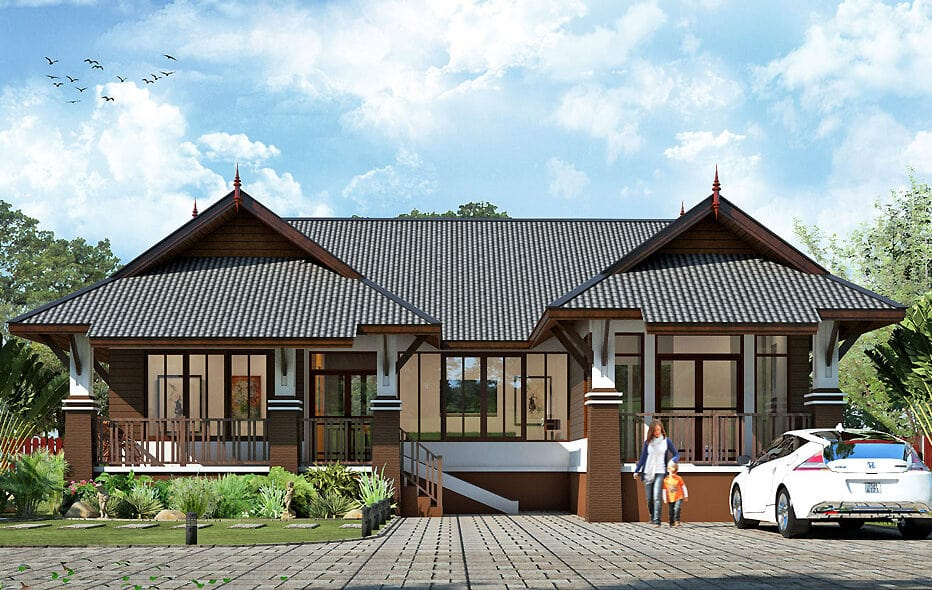 Guidelines for building an applied Thai style house